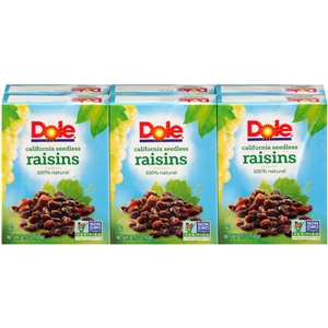 Dole Raisin Seedless Dates - 1.5 Oz.