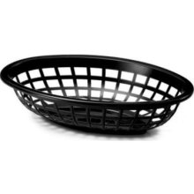 Oval Basket Black - 7.75 in. x 5.5 in. x 1.88 in.