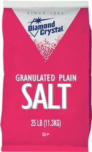 Cargill Diamond Crystal Granulated Plain Salt 25 Lb.