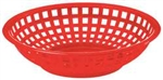Round Red Basket Plastic - 8 in. x 2.38 in.