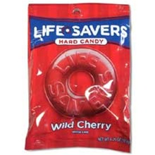 Wrigleys Lifesaver Wild Cherry Candy Peg Bag - 6.25 Oz.