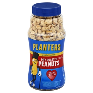 Kraft Nabisco Planters Dry Roasted Light Salt Peanut - 16 Oz.