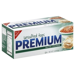Kraft Nabisco Premium Saltine Unsalted Cracker - 16 Oz.