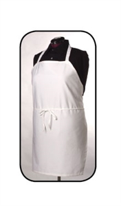 Arden Benhar White Chef Bib Apron with Pen Pocket