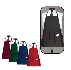 Arden Benhar Hunter Green DuraServe 3 Pocket Chef Bib Apron