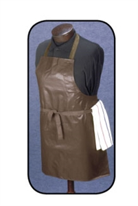 Arden Benhar Brown Bib Vinyl 26 in. x 28 in. Bus Boy Apron