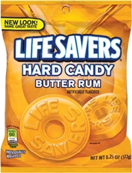 Wrigleys Lifesaver Butter Rum Candy Bag  - 6.25 Oz.