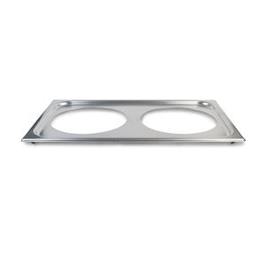 Vollrath Stainless Steel 8.38 in. Hole Adaptor Plate