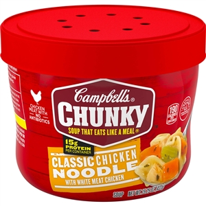 Campbell's Chunky Bowl Classic Chicken Noodle Soup 15.25 Oz.