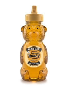 Golden Heritage Honey Busy Bee Clover Bear - 12 Oz.