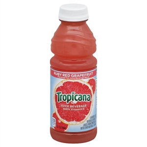 Pepsico Tropicana Ruby Red Grapefruit Juice Plastic Bottle - 15.2 Oz.