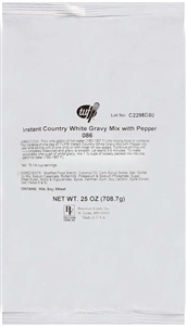 Precision Foods Tuf Country White Gravy Mix With Pepper 25 Oz.