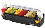San Jamar Dome Garnish Center 5 Compartment Container