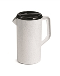 Tablecraft Pitcher Granite Lid Black With Gray - 2.5 Qt.