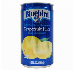Florida Natural Bluebird Unsweetened Grapefruit Juice - 5.5 Oz.