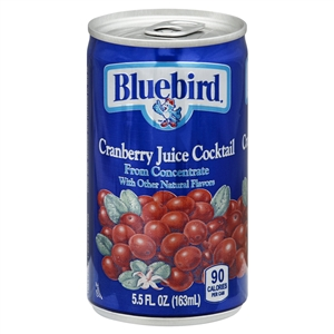 Florida Natural Bluebird Cranberry Cocktail Juice - 5.5 Oz.