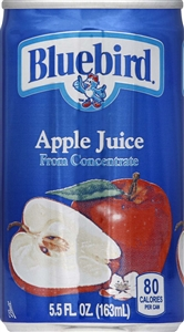 Florida Natural Bluebird Unsweetened Apple Juice - 5.5 Oz.