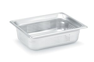 Vollrath Super Pan III Half Size Perporated Deep Pan - 4 in.