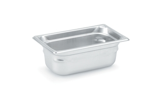 Vollrath Super Pan 3 Stainless Steel Pan One Third Size - 4 in.