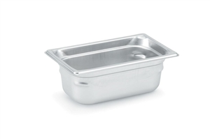 Vollrath Super Pan III Stainless Steel Pan One Fourth Size - 4 in.