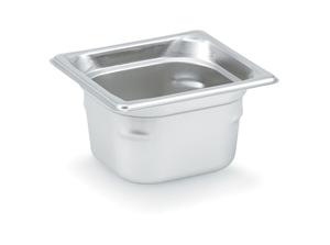 Vollrath Super Pan III Stainless Steel Pan One Sixth Size - 2.5 in.