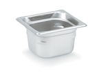 Vollrath Super Pan III Stainless Steel Deep Pan One Sixth Size - 4 in.