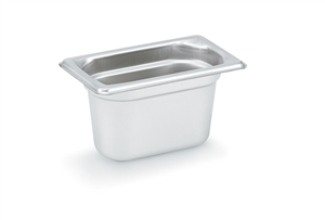 Vollrath Super Pan III Stainless Steel Deep Pan One Ninth Size - 4 in.