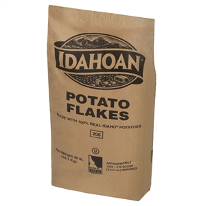 Simplot Idahoan Flakes Potato - 40 Lb.