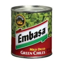 Megamex Embasa Chile Diced Green Peppers - 27 Oz.