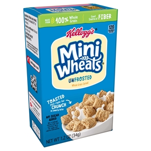 Kelloggs Shredded Miniature Wheats Cereal - 1.2 Oz.