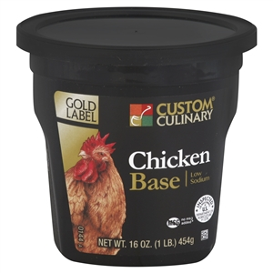 Custom Culinary Low Sodium Chicken Base No Msg Added - 1 Lb.