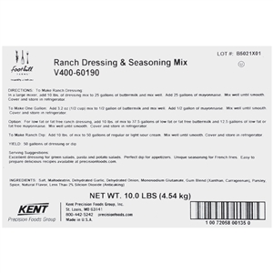 Precision Foods Foothill Farms Ranch Dressing Mix 10 Lb.