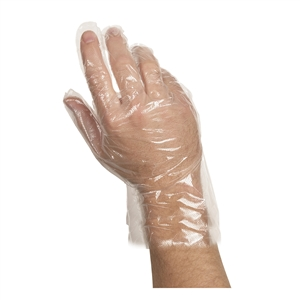 VG Poly Disposable Gloves Small Clear