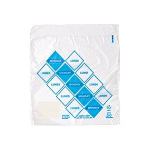 High Density Saddle Preportion Bag Printed Blue Monday - 6.5 in. x 7 in.