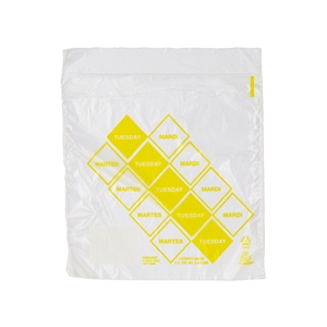 Handgards Tuesday Preportioned Bag Clear - 6.5 in. x 7 in.