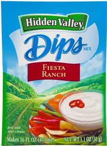 Dips Mix Hidden Valley Fiesta Ranch - 1.1 Oz.
