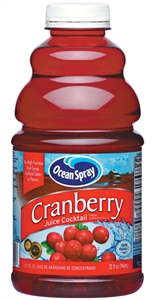 Ocean Spray Cranberry Juice Cocktail Drink Plastic Bottle - 32 Oz.