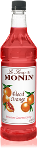 Monin Blood Orange Flavor Syrup - 1 Liter