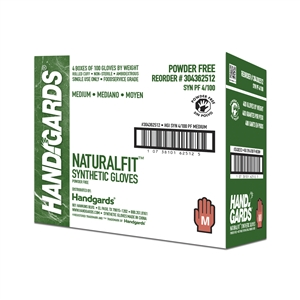 Handgards Medium Synthetic Powder Free Glove White