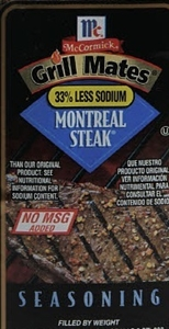 McCormick Monteal Steak 25 Pound Seasoning with No Paprika
