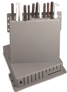 Tablecraft Knife Plastic Rack - 15 in. x 16 in. x 3 in.