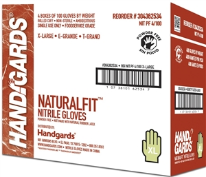 Nitrile Powder Free Disposable Gloves - Extra Large