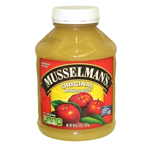 Knouse Foods Plastic Musselmans Sweetened Apple Sauce - 48 Oz.