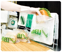 High Density Disposable Deli Bags Clear - 8.5 x 8.5 in.