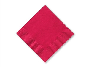 Smith Lee Facial Grade Beverage Napkin Red 2 Ply 10 in. x 10 in.
