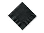 Smith Lee Facial Grade Beverage Napkin Black 2 Ply 10 in. x 10 in.