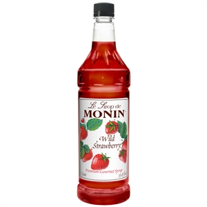 Monin Wild Strawberry Flavor Syrup - 1 Liter