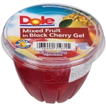 Dole Mixed Fruit in Black Cherry Gel Fruit Cup - 7 Oz.