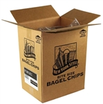 New York Style Garlic Flavoured Mini Bagel Chips Snack - 10 Lb.