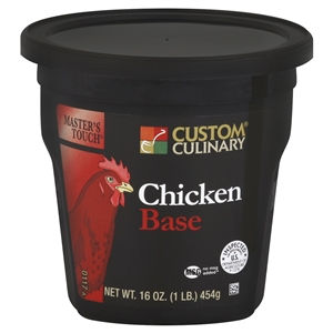 Custom Culinary Masters Touch Chicken Base No Msg Added - 1 Lb.